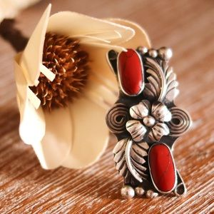 Sterling Silver Mexico Red Jasper Large Ring